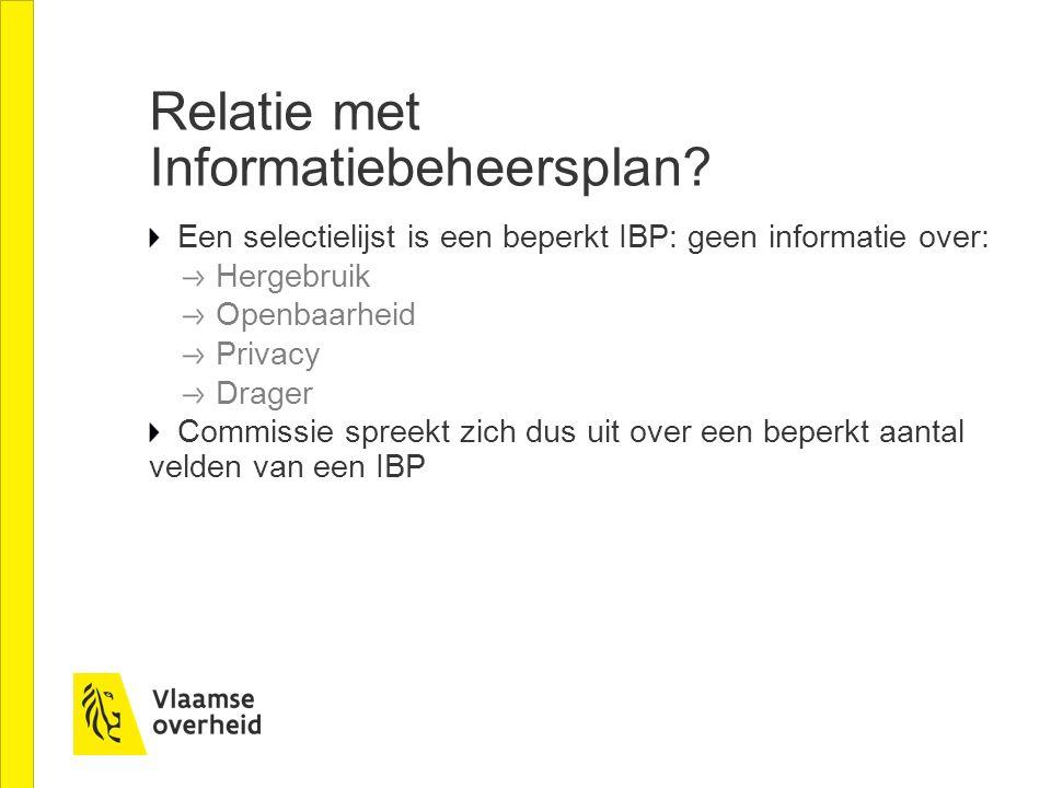 Relatie met Informatiebeheersplan