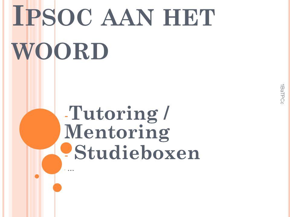 Tutoring / Mentoring Studieboxen …