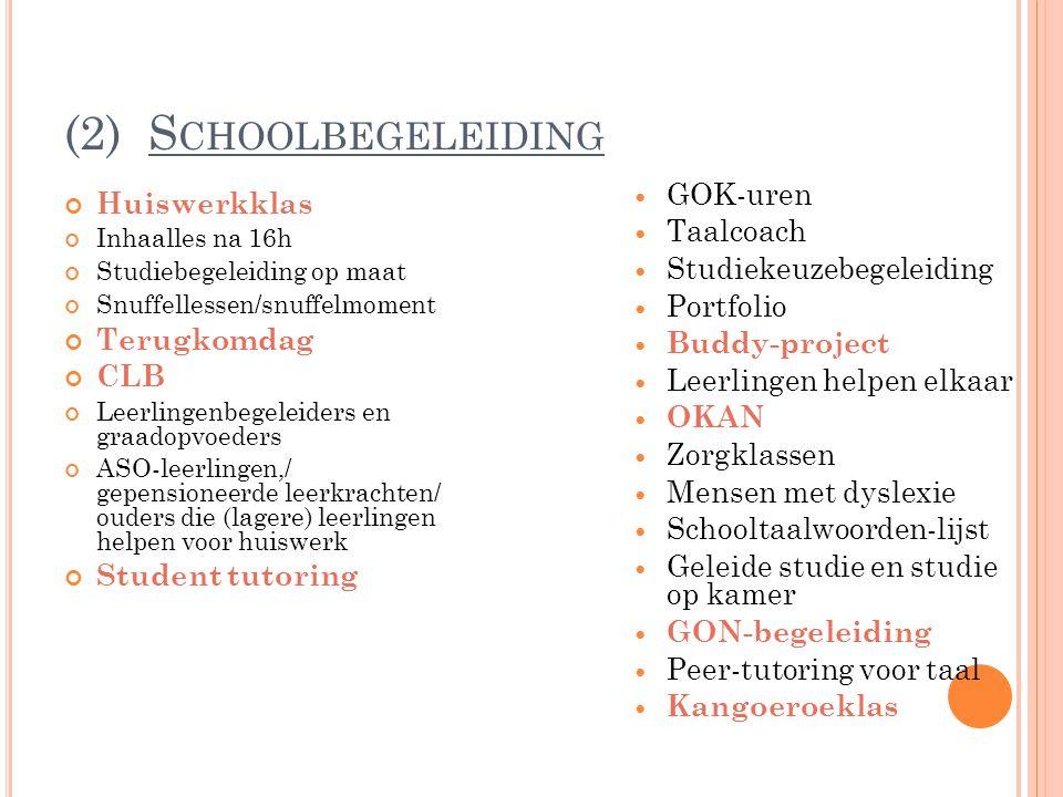 (2) Schoolbegeleiding GOK-uren Huiswerkklas Taalcoach