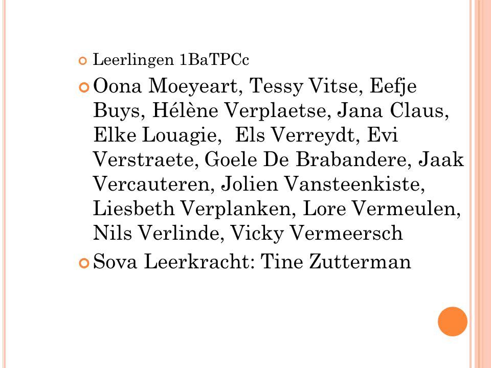 Sova Leerkracht: Tine Zutterman