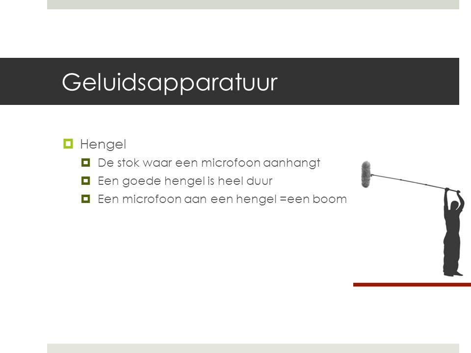 Geluidsapparatuur Hengel De stok waar een microfoon aanhangt