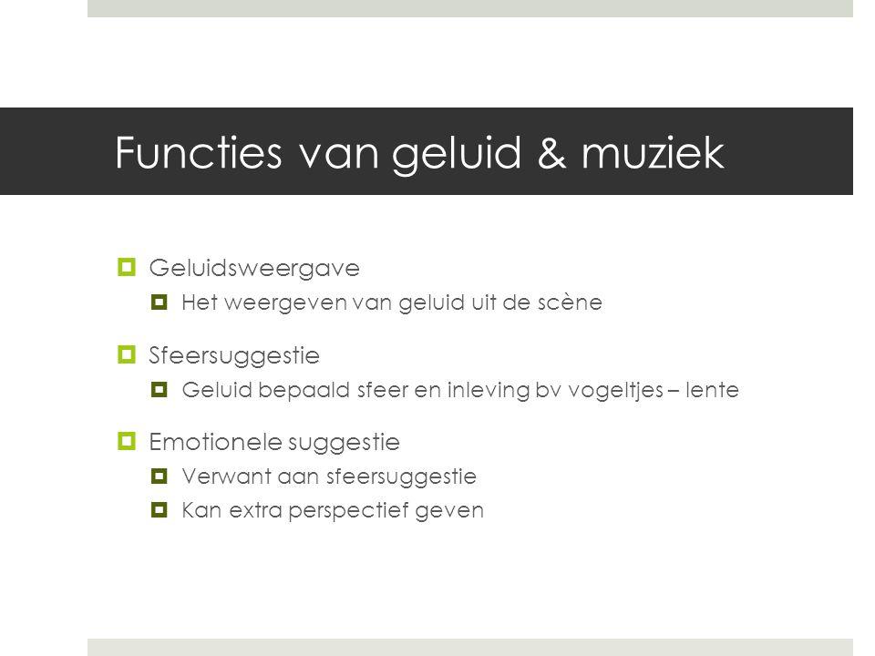 Functies van geluid & muziek