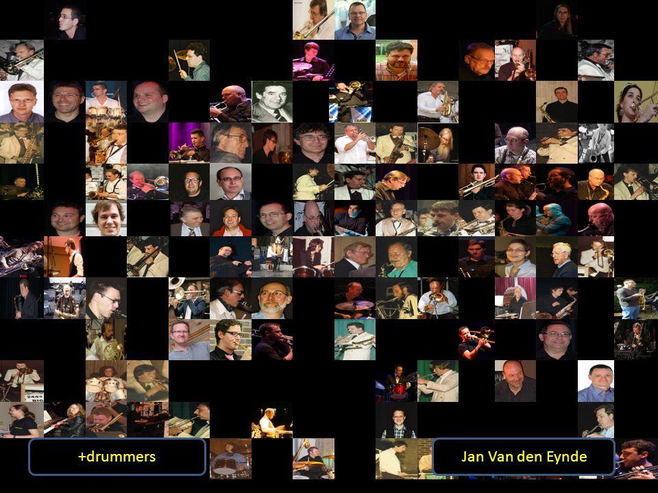 +drummers Vincent Caers. Frans Pelgrims. Chris Lembrechts. Egon Loosveldt. Vincent Dierckx. Nico Stynen.