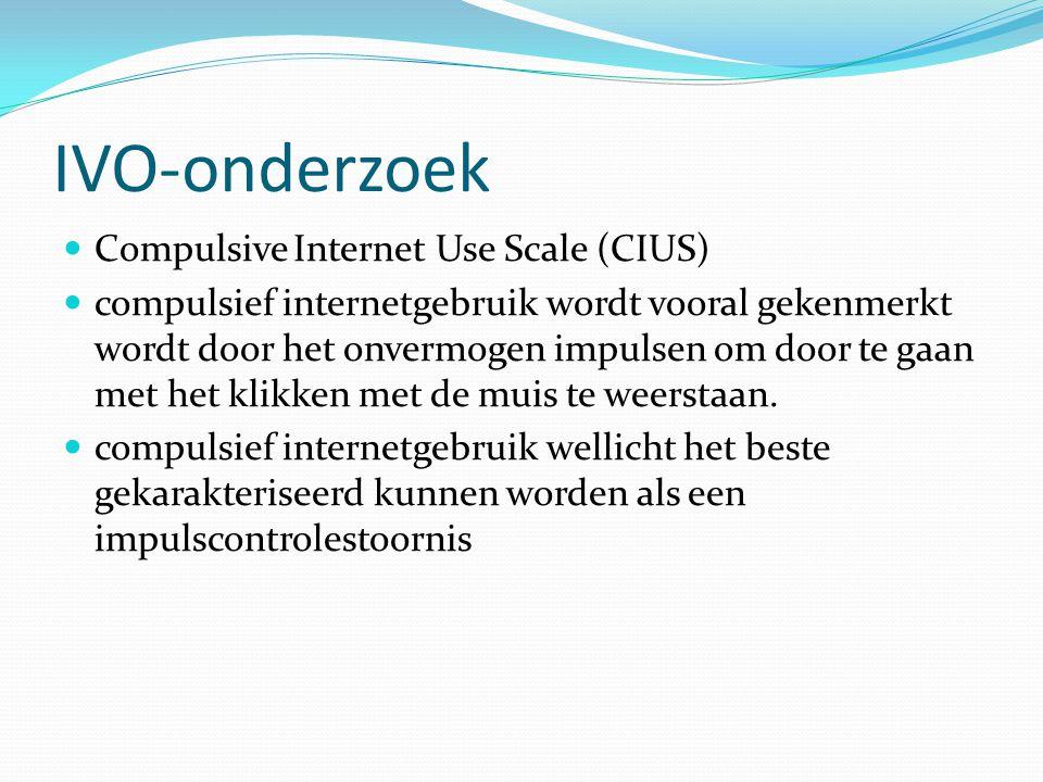 IVO-onderzoek Compulsive Internet Use Scale (CIUS)