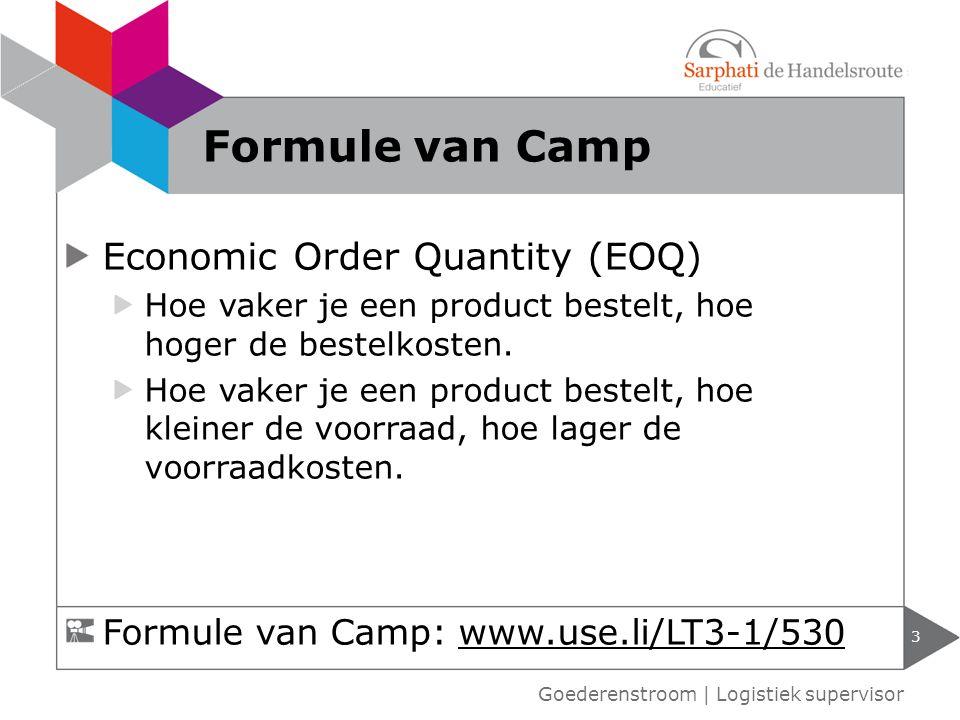 Formule van Camp Economic Order Quantity (EOQ)