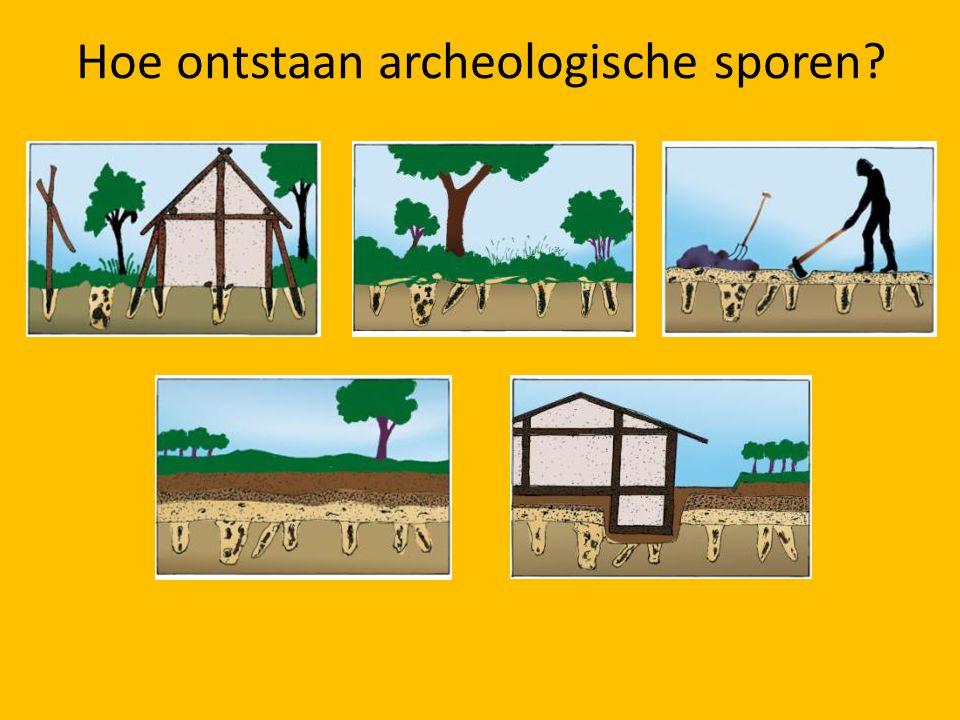 Hoe ontstaan archeologische sporen