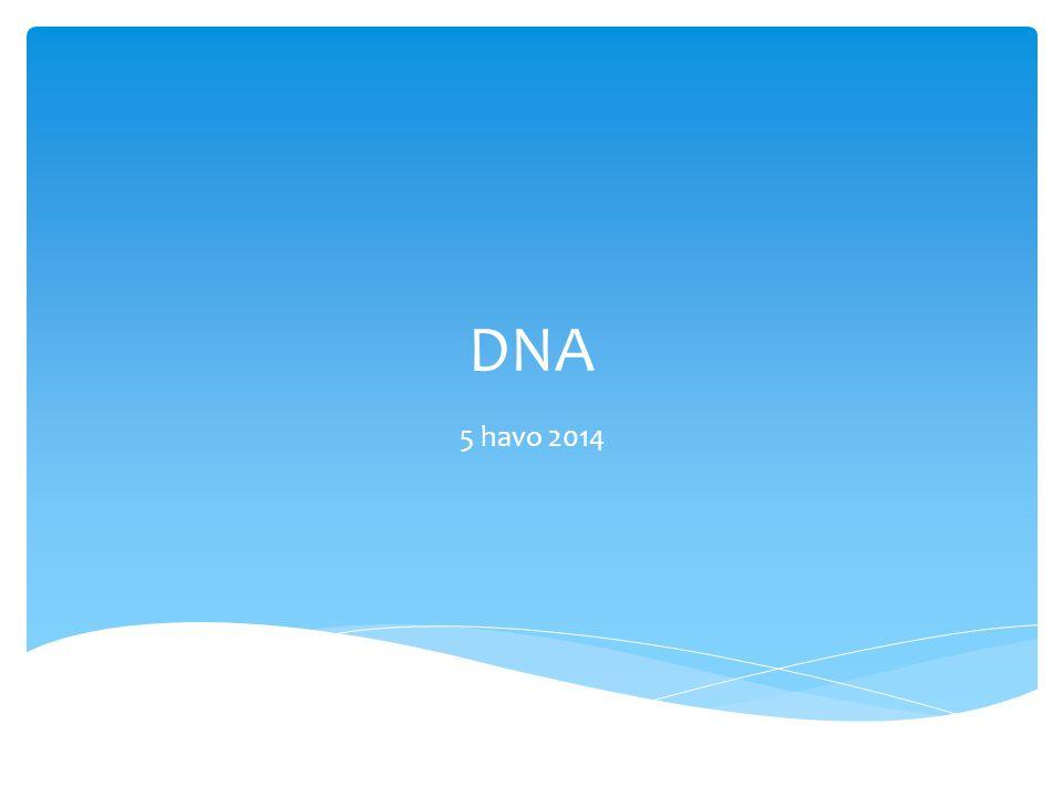 DNA 5 havo 2014