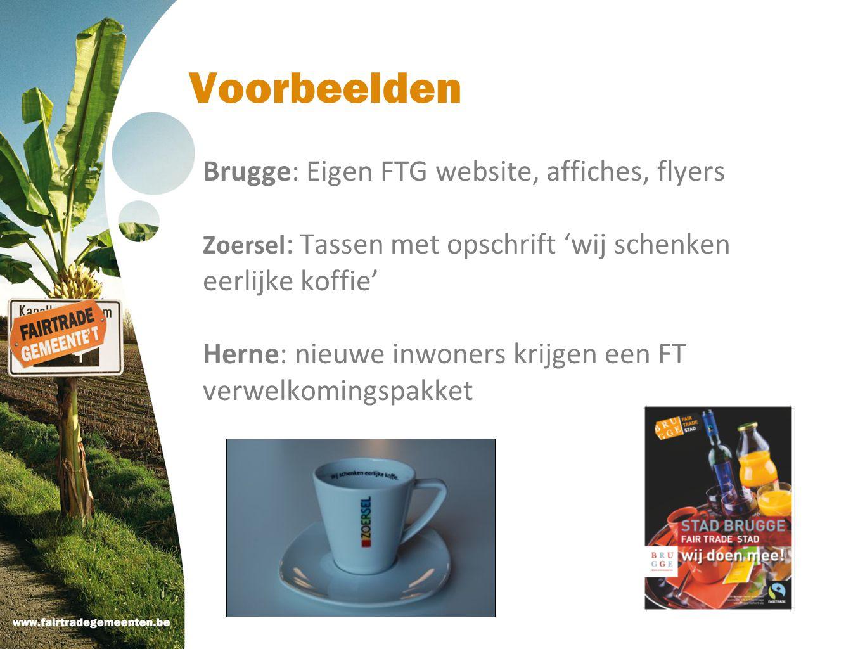 Voorbeelden Brugge: Eigen FTG website, affiches, flyers