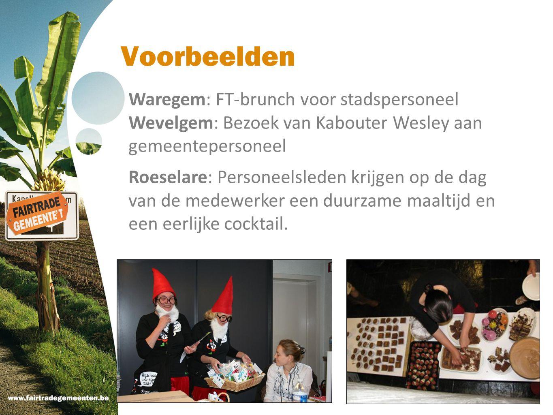 Voorbeelden Waregem: FT-brunch voor stadspersoneel