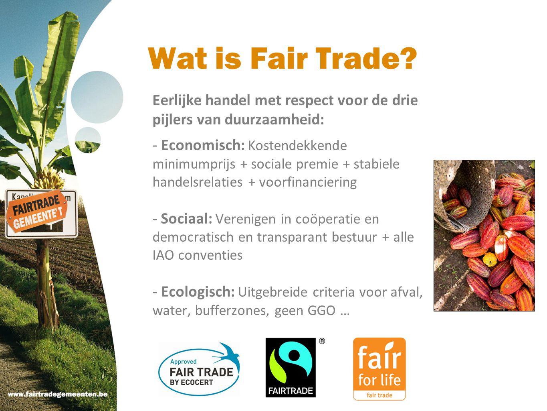 Wat is Fair Trade Eerlijke handel met respect voor de drie pijlers van duurzaamheid: