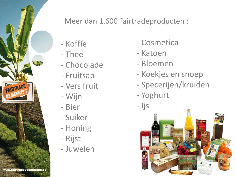 Meer dan 1.600 fairtradeproducten :