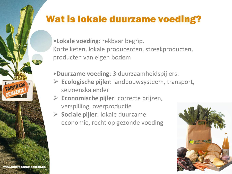 Wat is lokale duurzame voeding