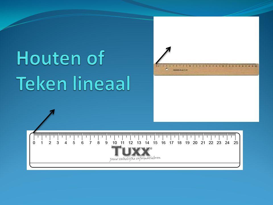 Houten of Teken lineaal