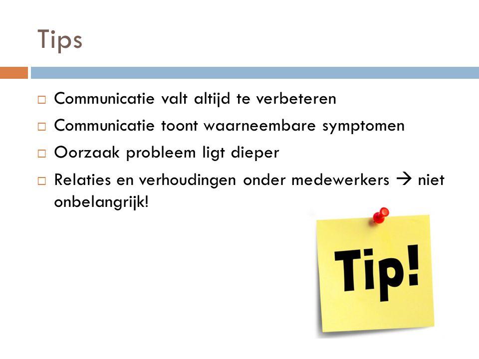 Tips Communicatie valt altijd te verbeteren