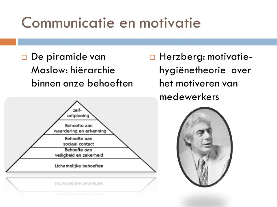 Communicatie en motivatie