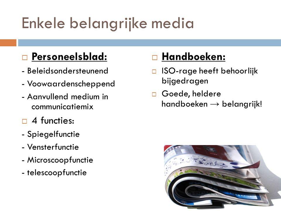 Enkele belangrijke media