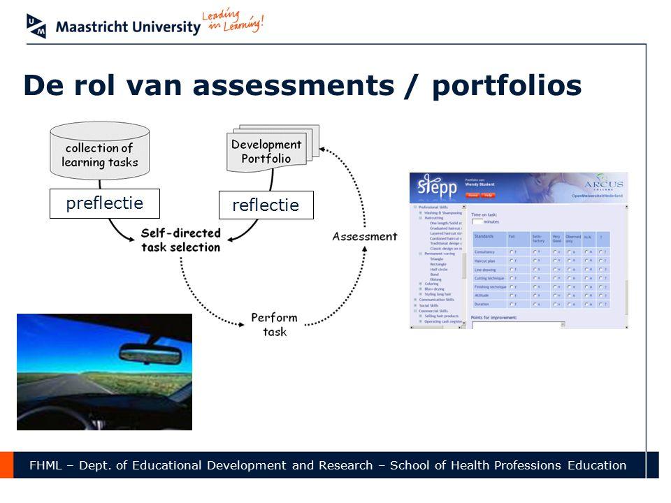 De rol van assessments / portfolios