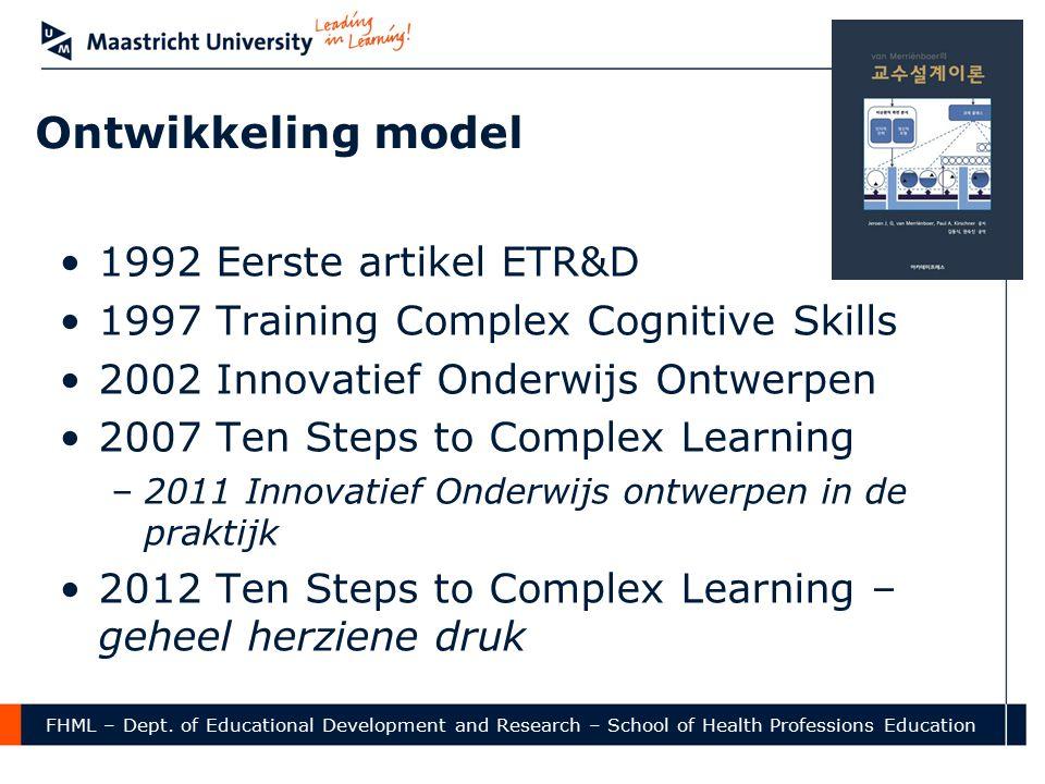 Ontwikkeling model 1992 Eerste artikel ETR&D