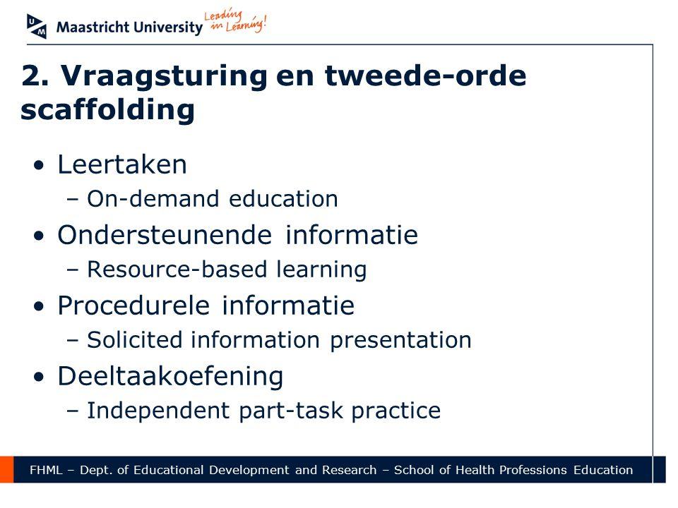 2. Vraagsturing en tweede-orde scaffolding