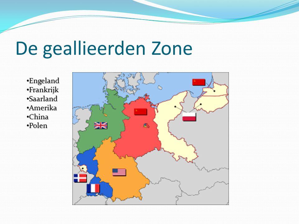 De geallieerden Zone Engeland Frankrijk Saarland Amerika China Polen