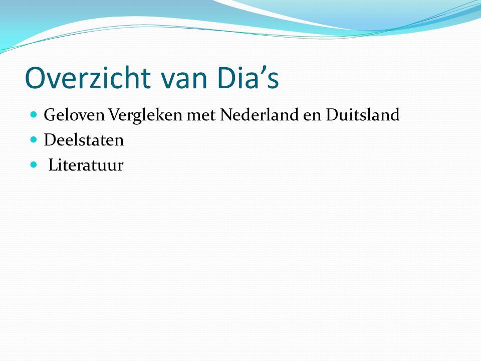 Overzicht van Dia's Geloven Vergleken met Nederland en Duitsland