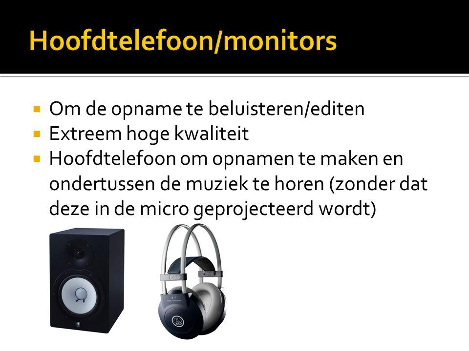 Hoofdtelefoon/monitors