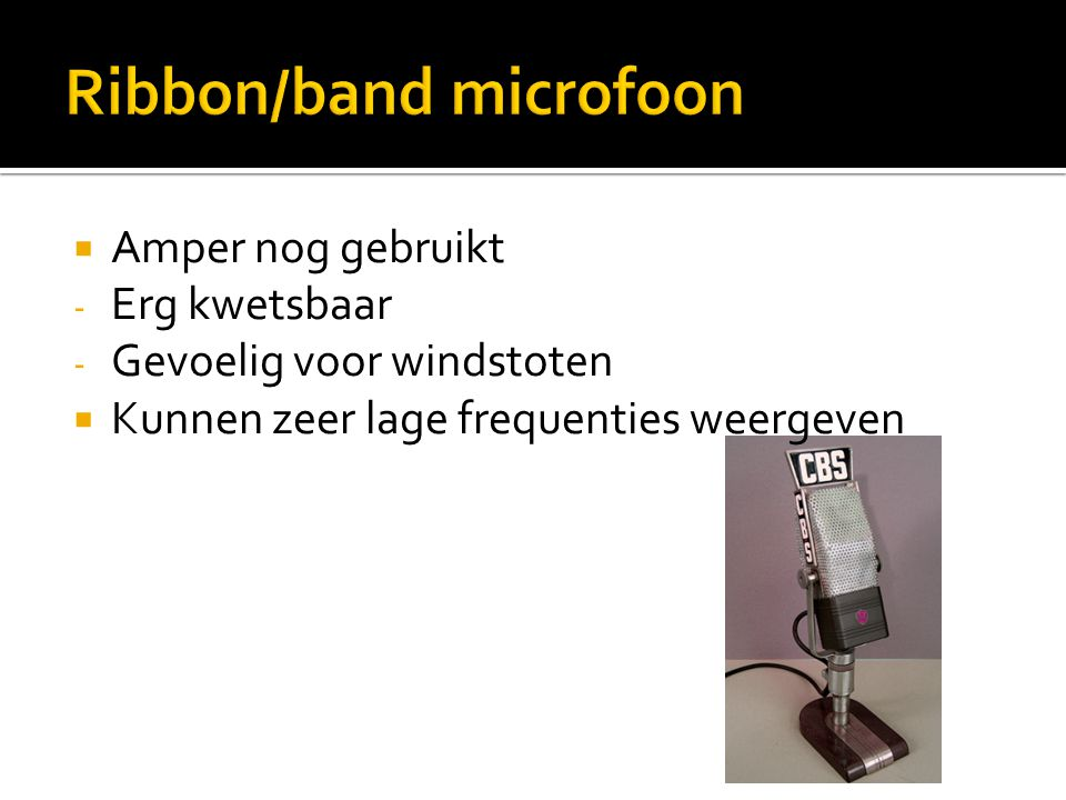 Ribbon/band microfoon