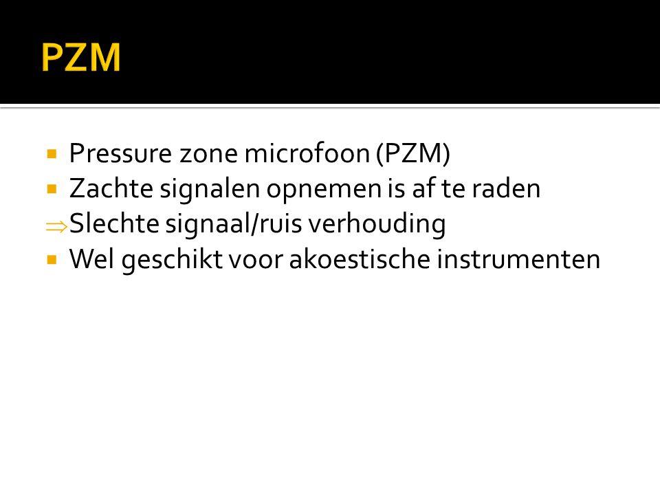 PZM Pressure zone microfoon (PZM)