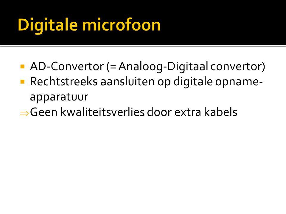 Digitale microfoon AD-Convertor (= Analoog-Digitaal convertor)
