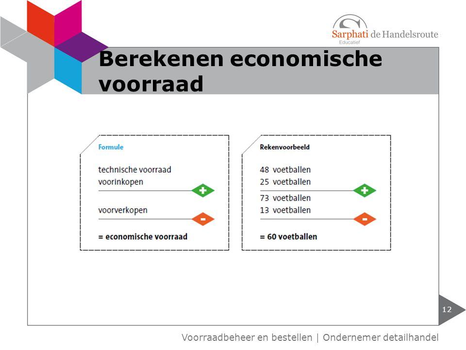 Berekenen economische voorraad