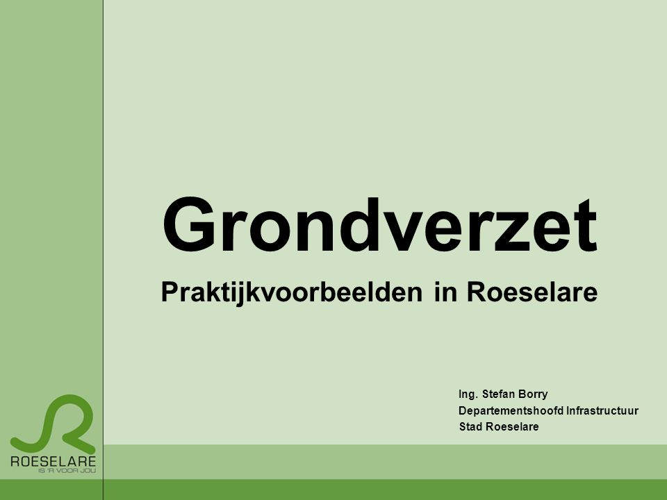 Praktijkvoorbeelden in Roeselare