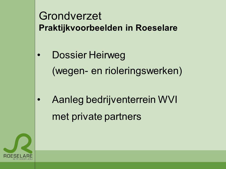 Grondverzet Praktijkvoorbeelden in Roeselare