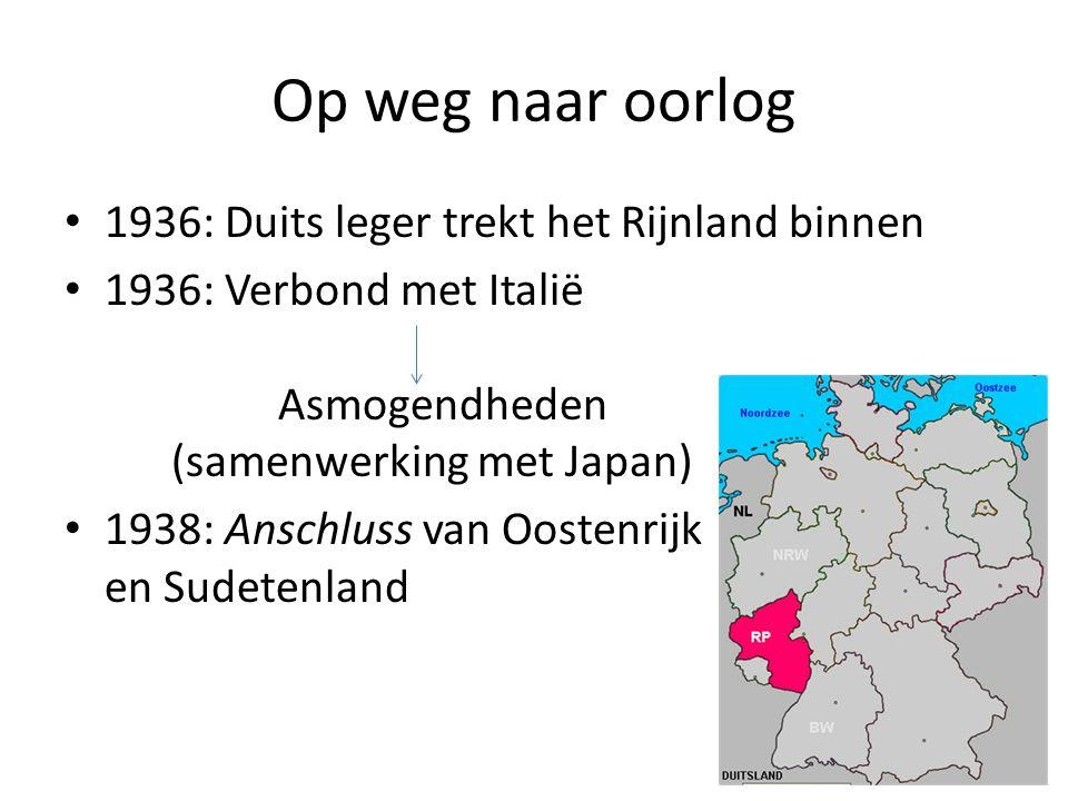 Op weg naar oorlog 1936: Duits leger trekt het Rijnland binnen
