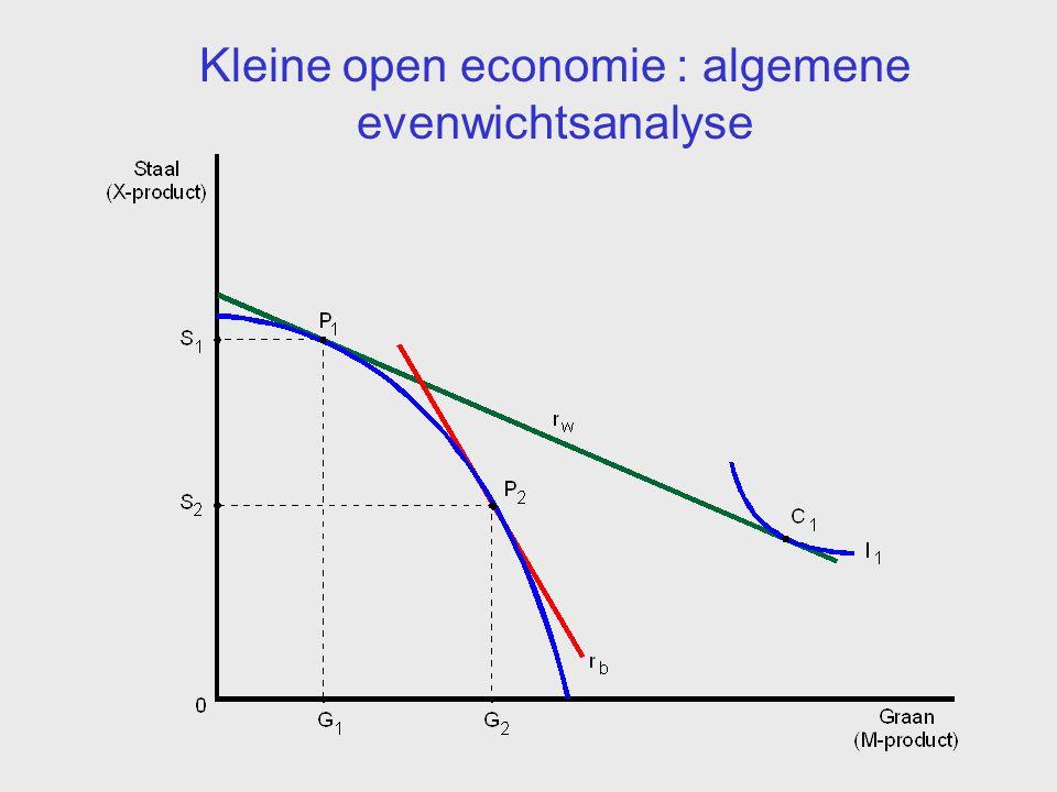 Kleine open economie : algemene evenwichtsanalyse