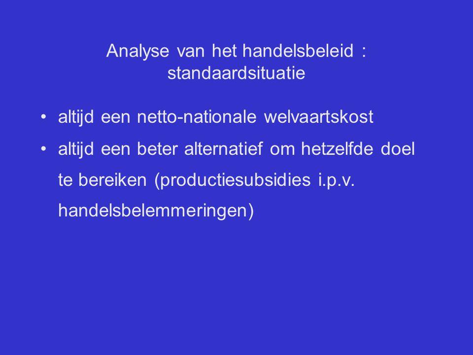 Analyse van het handelsbeleid : standaardsituatie