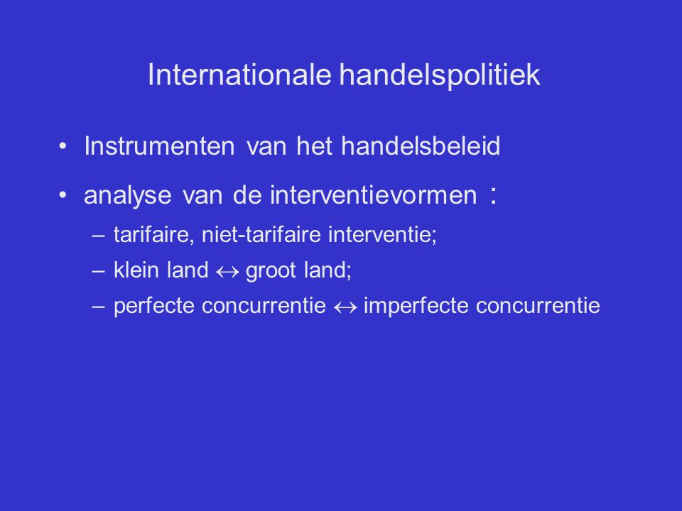 Internationale handelspolitiek