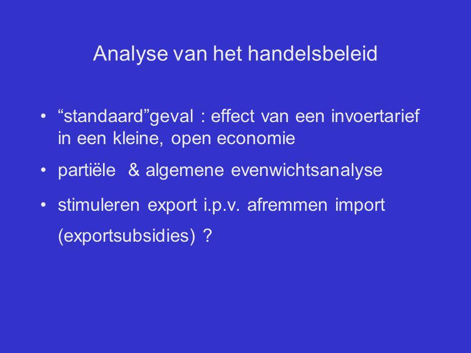 Analyse van het handelsbeleid