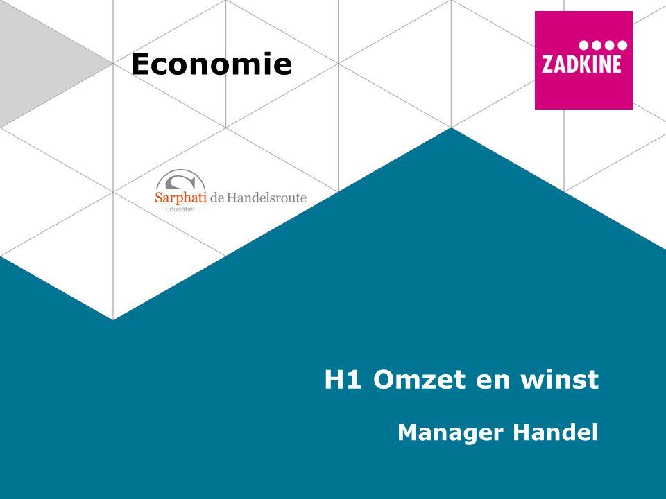 Economie H1 Omzet en winst Manager Handel