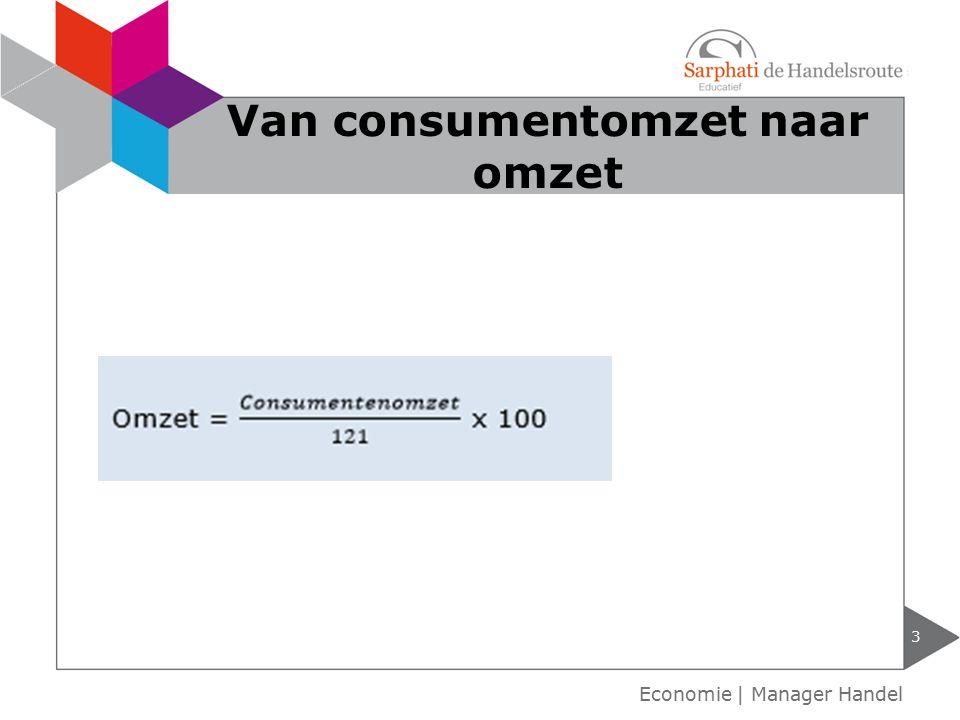 Van consumentomzet naar omzet