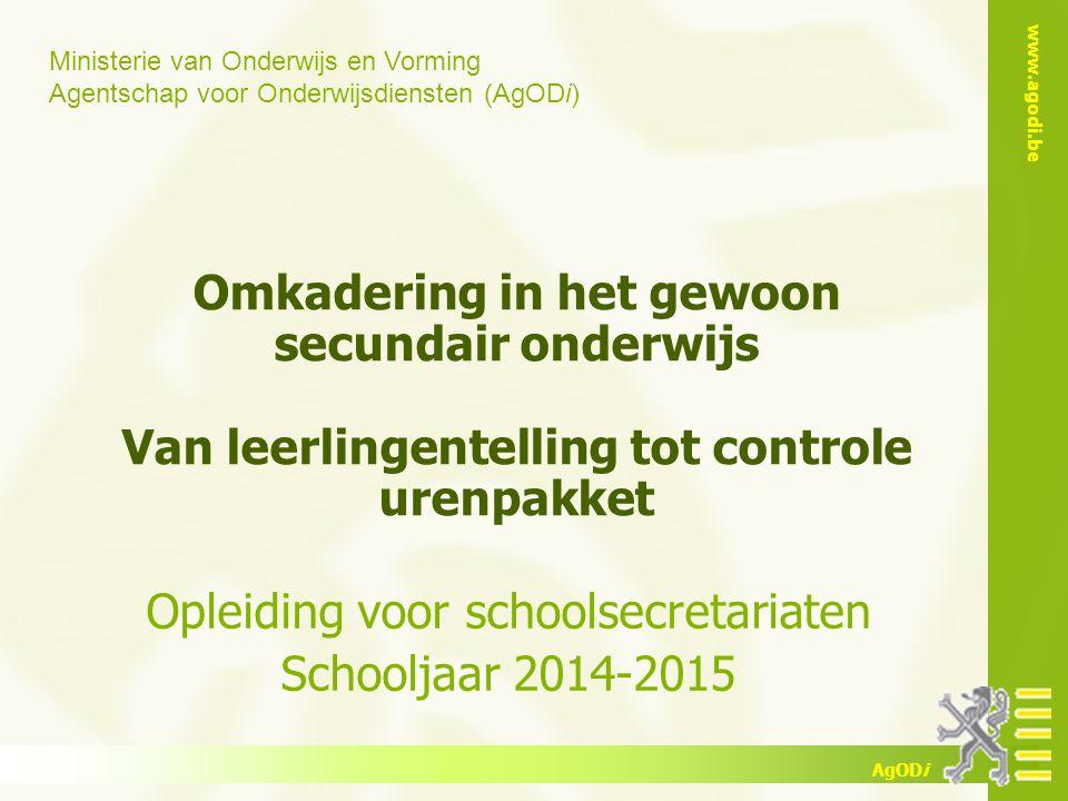 Opleiding voor schoolsecretariaten Schooljaar 2014-2015
