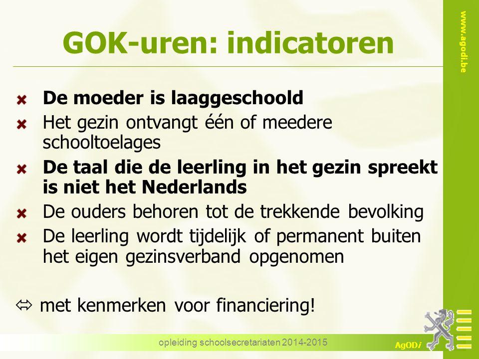 GOK-uren: indicatoren