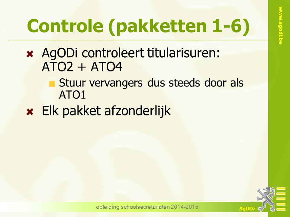 Controle (pakketten 1-6)