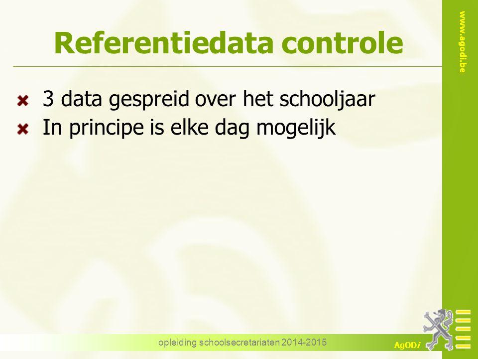 Referentiedata controle