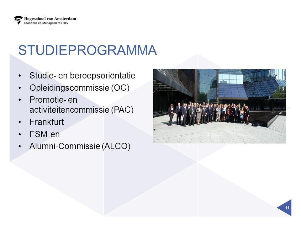 studieprogramma Studie- en beroepsoriëntatie Opleidingscommissie (OC)