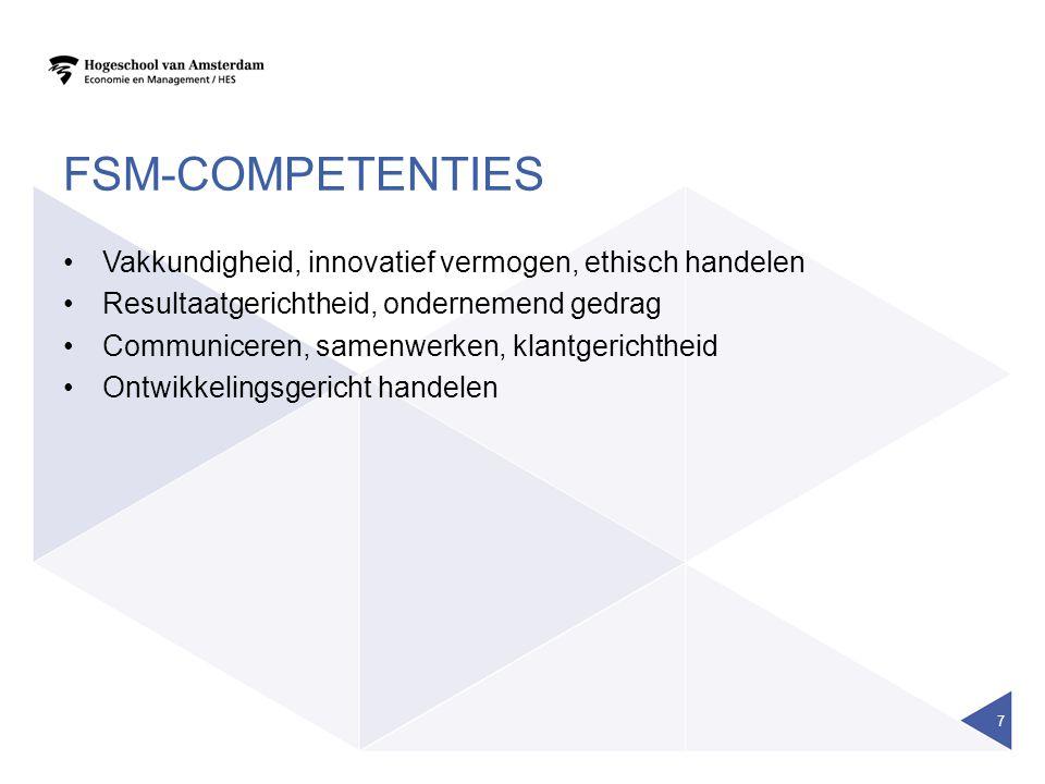 fsm-competenties Vakkundigheid, innovatief vermogen, ethisch handelen
