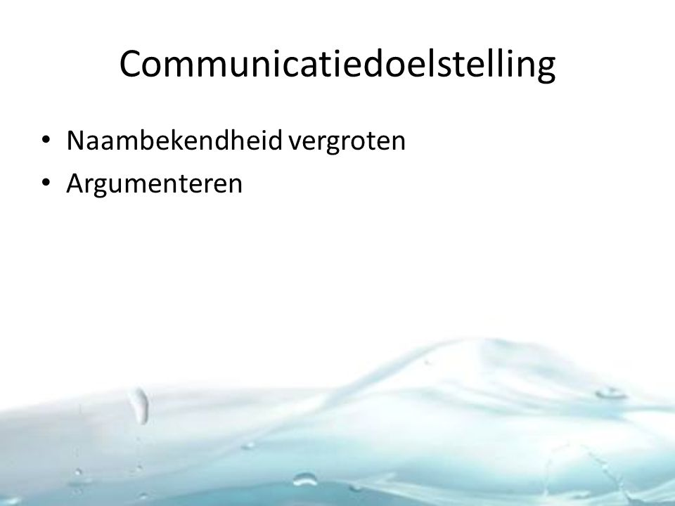 Communicatiedoelstelling