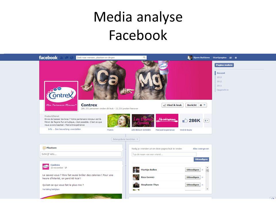 Media analyse Facebook