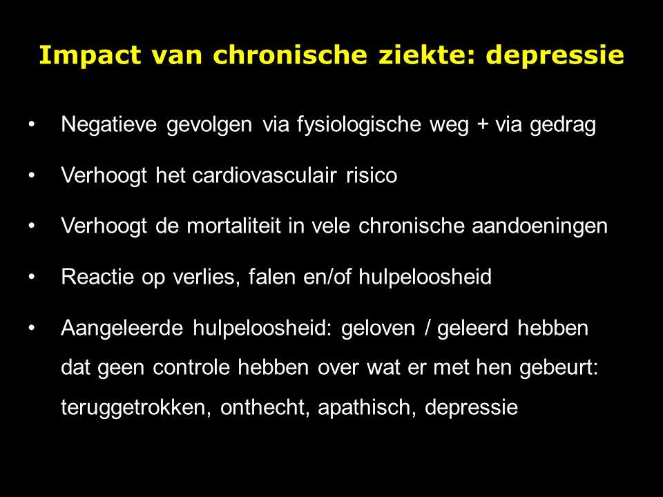 Impact van chronische ziekte: depressie