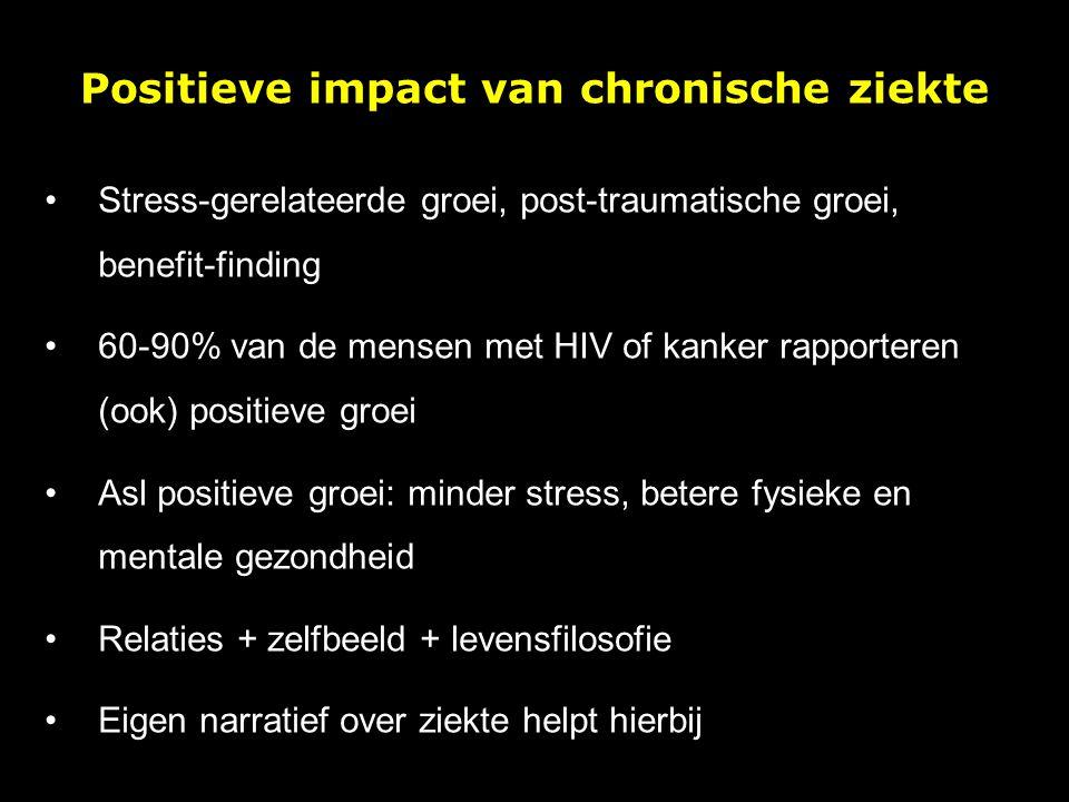 Positieve impact van chronische ziekte