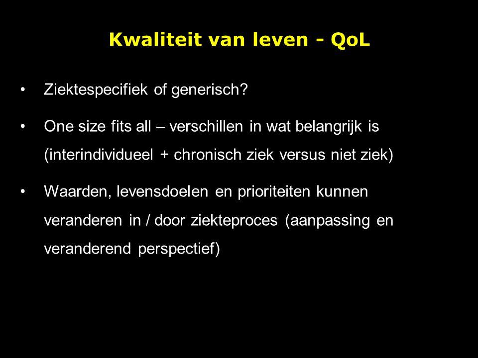 Kwaliteit van leven - QoL